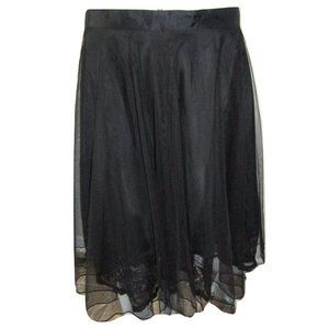 Citrine Tulle Skirt with Lace Trim Underlay Large